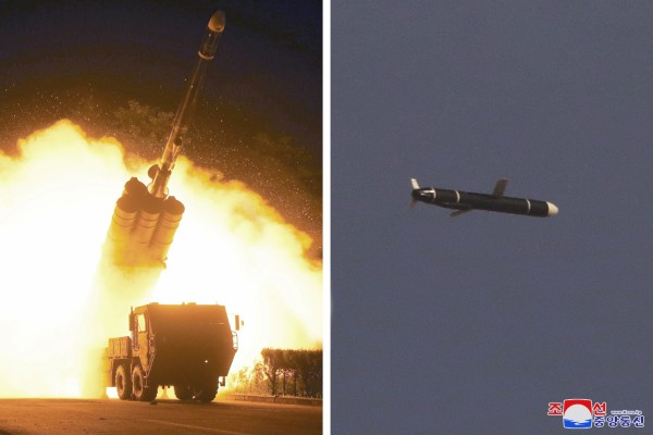 The Academy of National Defence Science conducts long-range cruise missile tests in North Korea. Photos: KCNA/Reuters