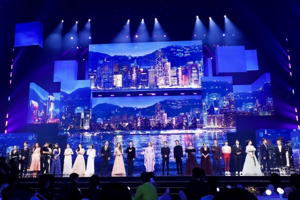 Performers on stage at the Mid-Autumn Festival Concert in the Greater Bay Area 2021. Photo: Xinhua