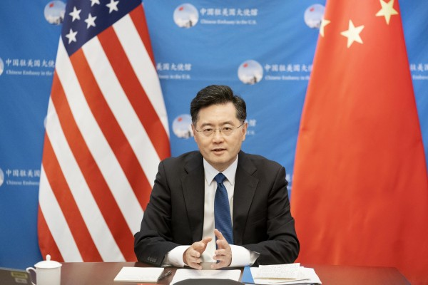 Chinese ambassador to the United States Qin Gang in Washington on August 31. Photo: Xinhua