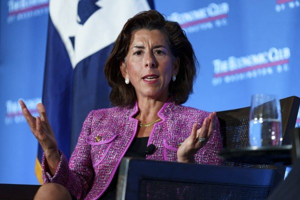 US Commerce Secretary Gina Raimondo says China is not sticking to its agreement to buy US goods, under a 2020 trade pact with the Trump administration. Photo: Bloomberg