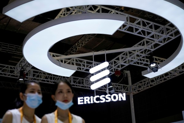 An Ericsson sign is seen at the third China International Import Expo (CIIE) in Shanghai, China November 5, 2020. Photo: Reuters