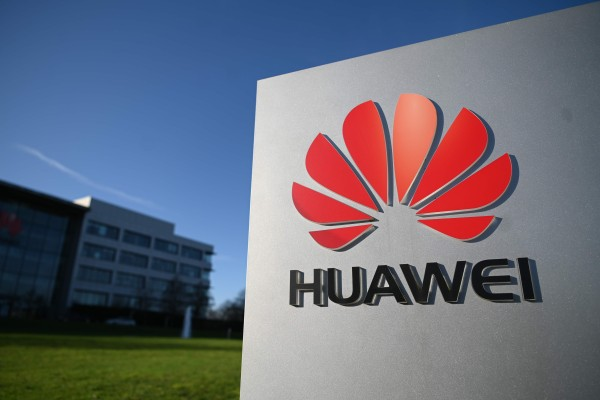 Huawei's logo seen outside its main UK office in Reading, west of London, on January 28, 2020. Former head of BBC news programmes Gavin Allen became the latest high-profile overseas hire for the Chinese tech giant as it looks for new business opportunities that are not hindered by US sanctions. Photo: AFP