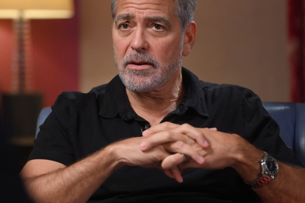 Actor George Clooney during an interview with the BBC's Andrew Marr. Photo: BBC via Reuters