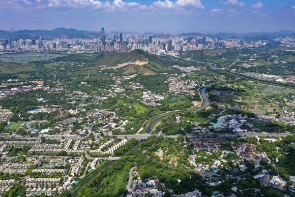 The northern New Territories in Hong Kong, with Shenzhen in the distance. Photo: Winson Wong