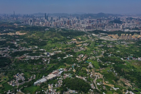 Hong Kong is planning to develop the northern New Territories, pictured with Shenzhen in the distance. Photo: Winson Wong