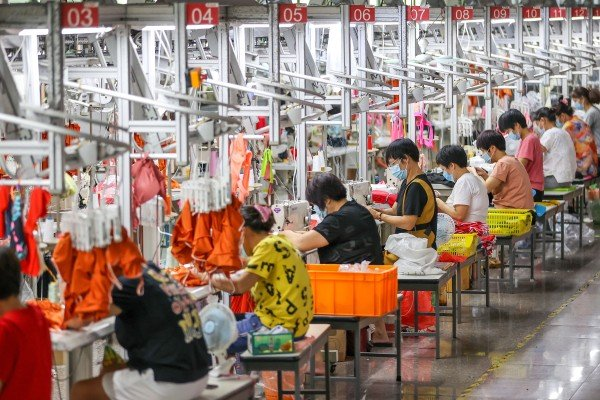 China's official producer price index (PPI) rose by 10.7 per cent in September from a year earlier, compared with 9.5 per cent in August. Photo: VCG