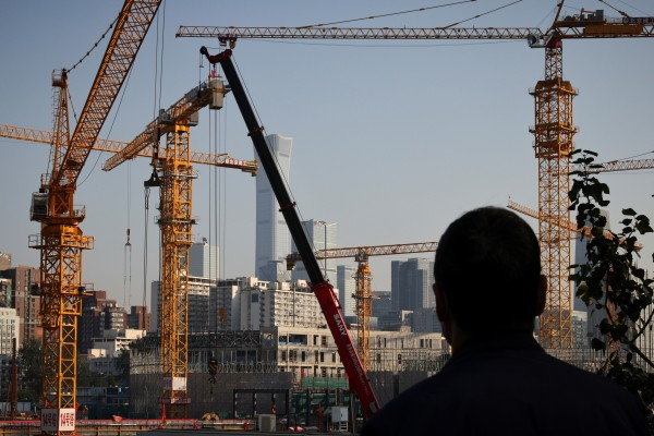 New housing starts for the first three quarters of the year fell 4.5 per cent from a year ago just as China's overall economic growth fell to a worse-than-expected 4.9 per cent in the third quarter. Photo: Reuters