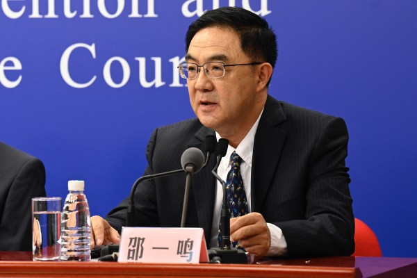 Shao Yiming, researcher for the Chinese Centre for Disease Control and Prevention, said new recommendations would be made once there was more data from different types of vaccines. Photo: AFP