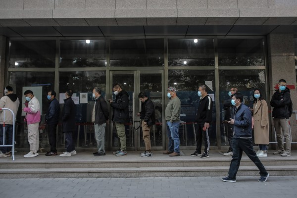 China has managed to vaccinate most people in a matter of months, but not everybody has rushed to join the queues for jabs. Photo: EPA-EFE