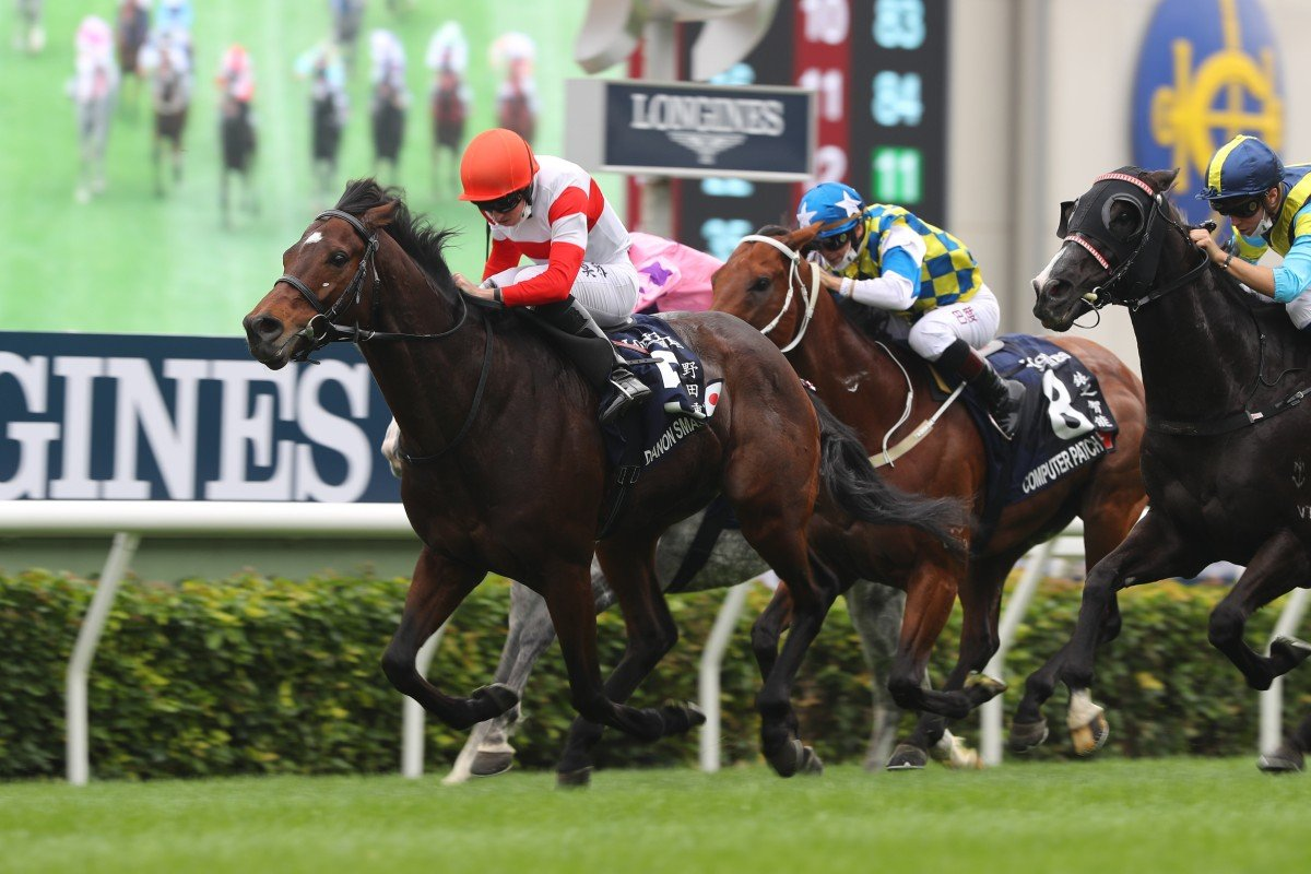 Danon Smash wins last year's Hong Kong Sprint at Sha Tin. Photos: Kenneth Chan