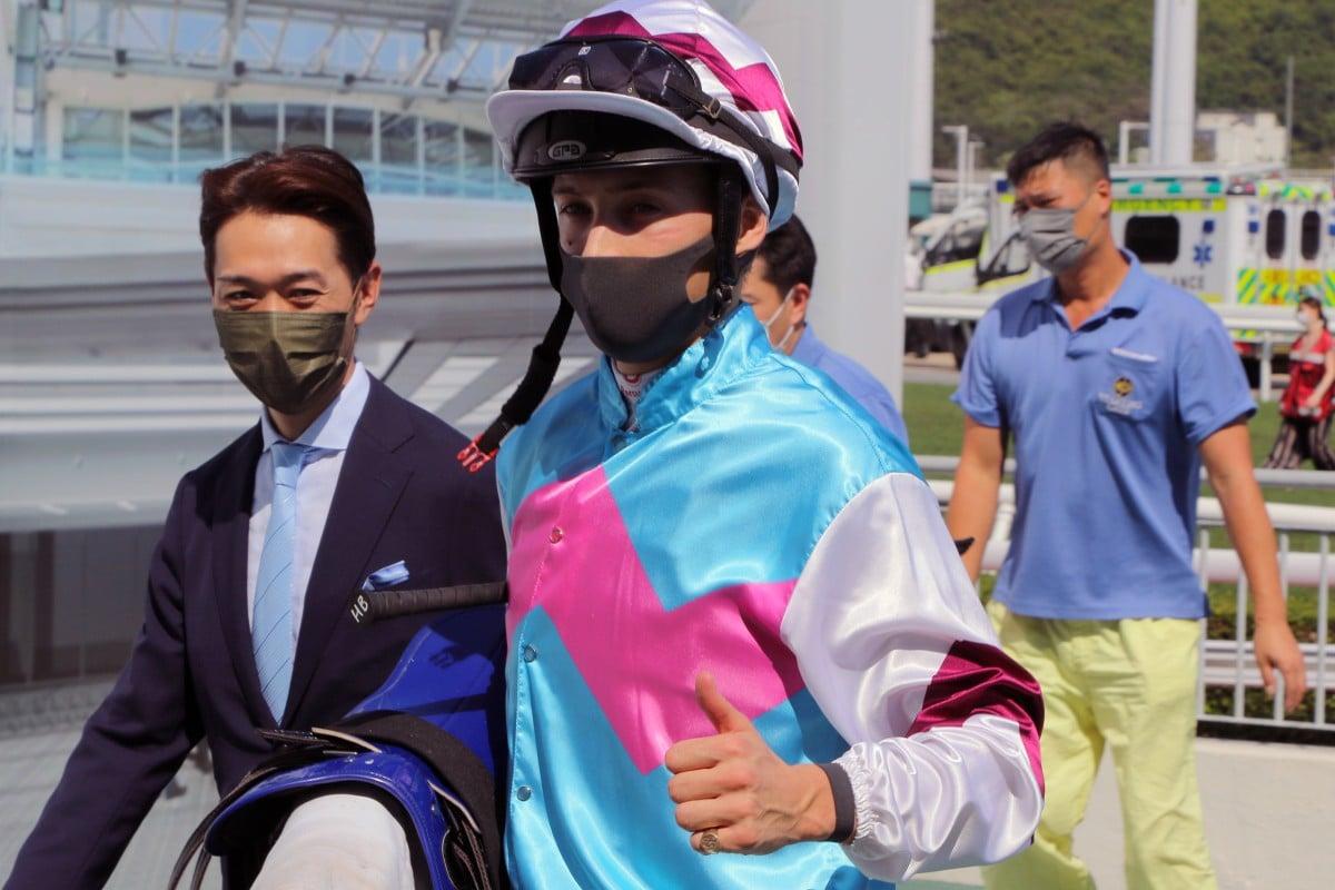 Harry Bentley enjoys a winner. Photos: Kenneth Chan