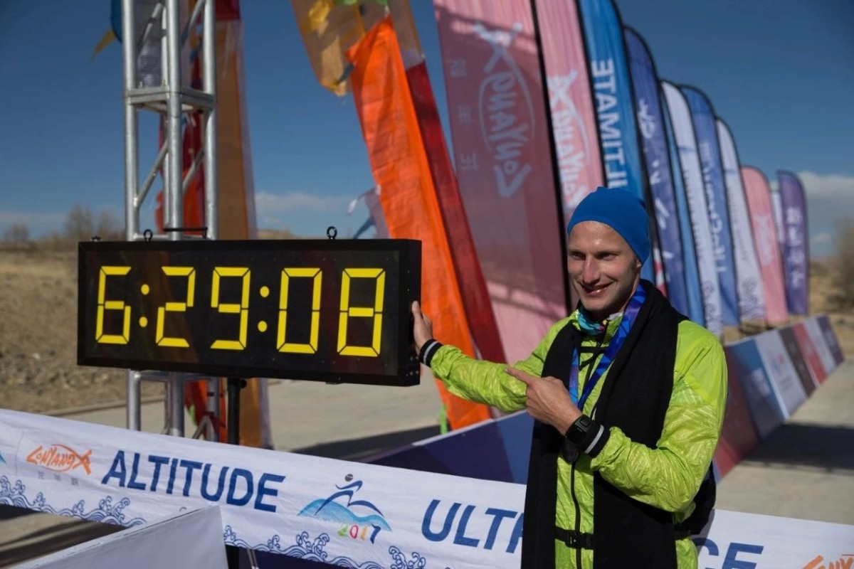 Jonas Thurig wins his first 50km race. He's been learning about random Chinese slang like military strategy. Photos: Heyrunning