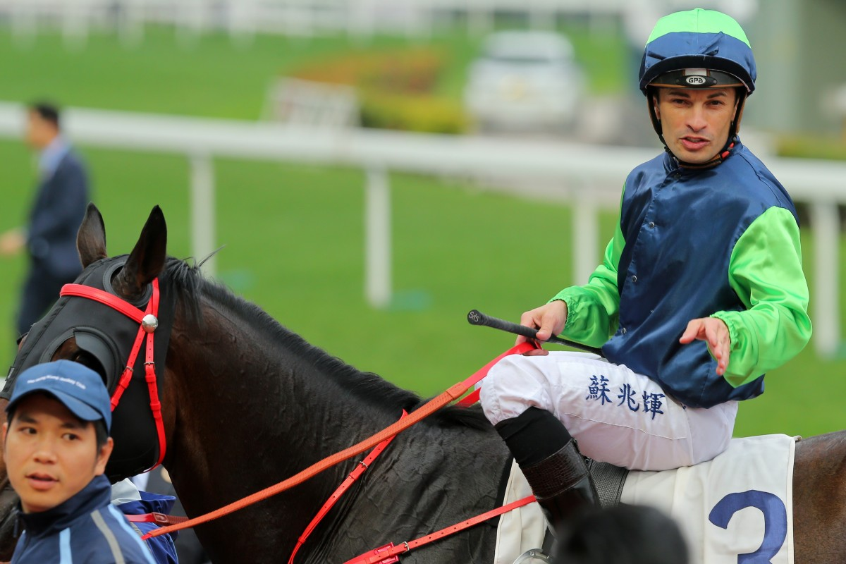 Silvestre de Sousa returns to scale after winning on Right Choice. Photos: Kenneth Chan
