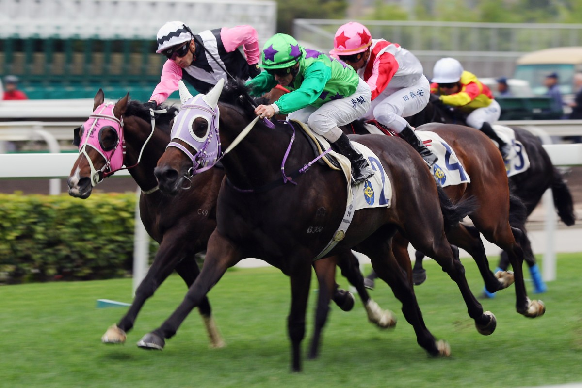 Tianchi Monster wins at Sha Tin in February. Photos: Kenneth Chan