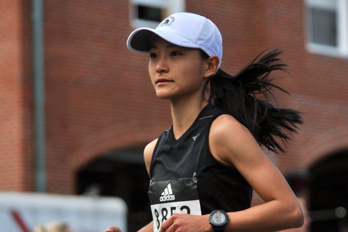 Marcia Zhou during the Boston Marathon 2017. The famous face is her target again this year, but she surprised herself with a PB in China. Photo : Handout