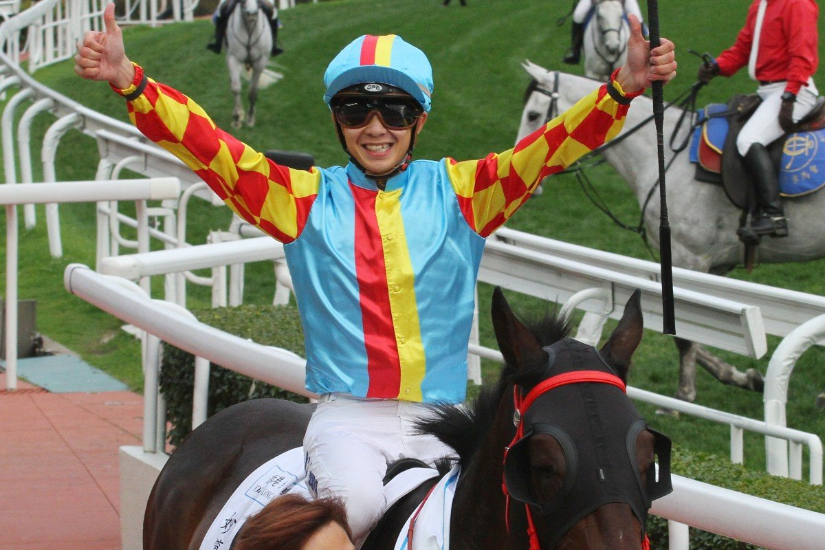Derek Leung returns on Mission Tycoon after winning the Hong Kong Classic Cup in February. Photos: Kenneth Chan