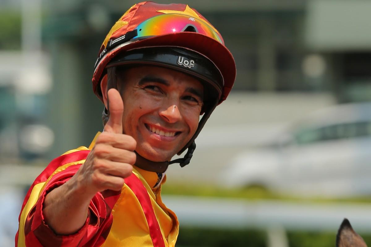 Jockey Joao Moreira after riding a winner at Sha Tin this season. Photos: Kenneth Chan