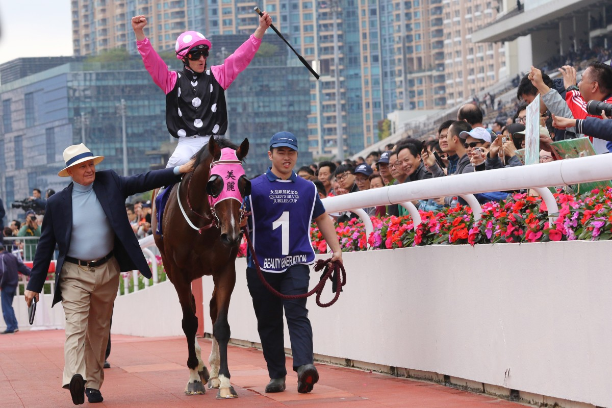 Beauty Generation returns to scale after winning the Group One Queen's Silver Jubilee Cup in February. Photos: Kenneth Chan