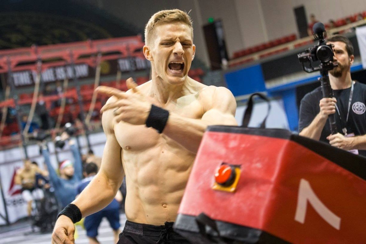 Brent Fikowski after winning the Asia CrossFit Championship. Photo: Kang Dongho