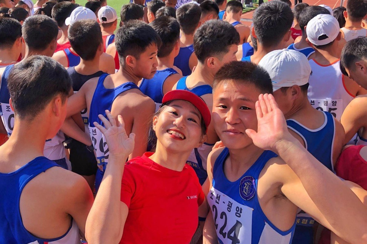 Angela He lines up for the Pyongyang Marathon. Chinese running holidays are booming and company ZX Tour is leading the way by partnering with governments to facilitate travel. Photos: Handouts