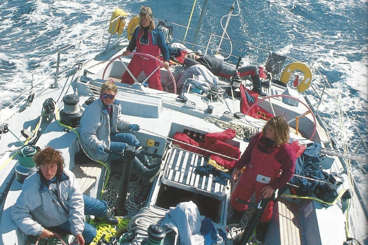 Maiden, captained by Tracy Edwards, was the first all-women crew to sail around the world in the 1989-90 Whitbread race. Photo: Handout