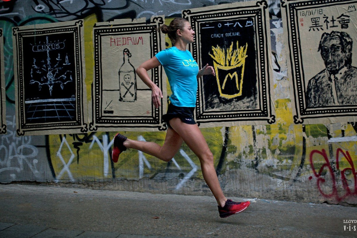 Elsa Jean de Dieu finds parallels in her state of mind when she runs and when she paints murals. Photo: Lloyd Belcher Visuals