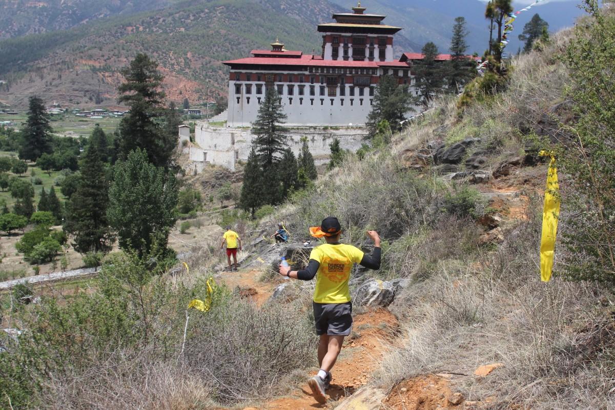 A 4km single track trail behind Rinpung Dzong on the Thunder Dragon Marathon. Photo: Steven Seaton