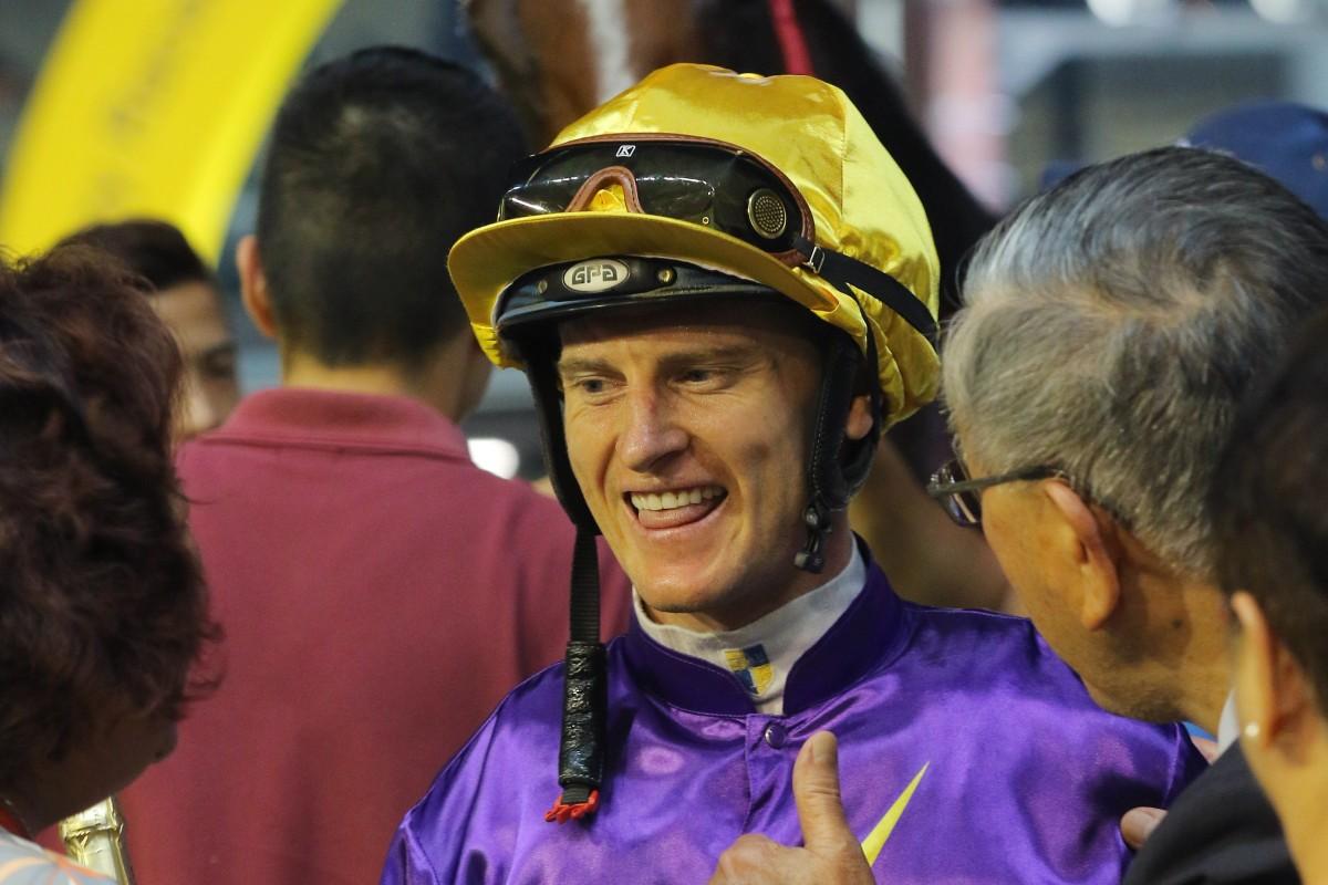 Jockey Zac Purton celebrates another winner. Photos: Kenneth Chan