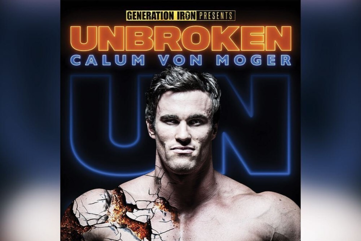 Calum Von Moger stars in Unbroken, the No 1 sports film in the US according to iTunes. Photo: Instagram