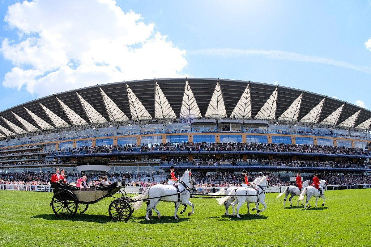 The Royal procession at Royal Ascot. Photo: GBRI