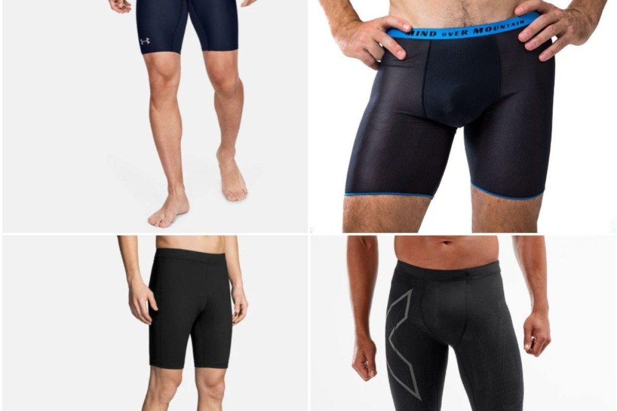 (Clockwise) Under Armour, T8, Brooks and 2XU are some of the best under shorts on the market. Photo: Under Armour, T8, Brooks and 2XU