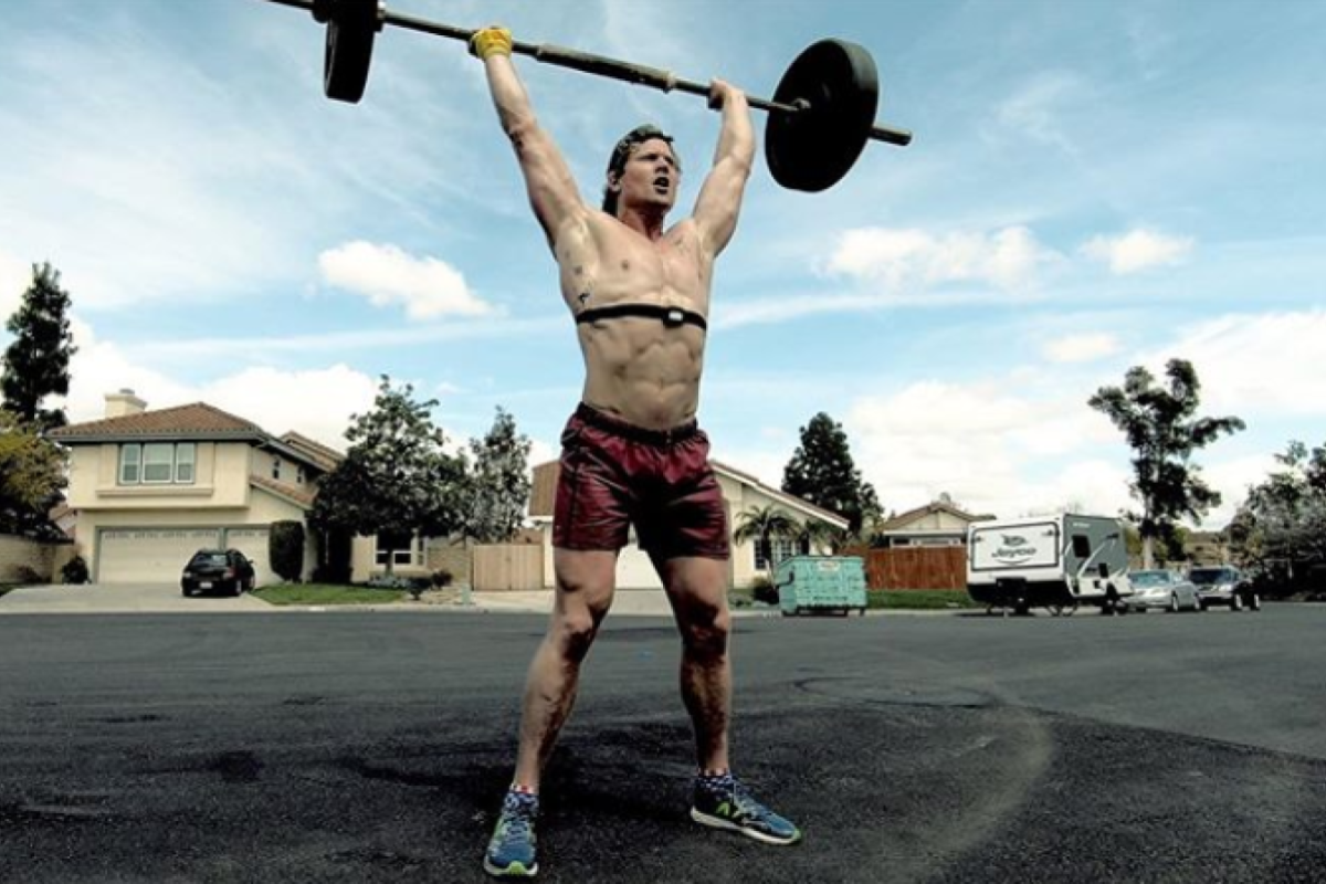 Hunter McIntyre is a wild-card invitation to the CrossFit Games and believes he has the established athletes 'scared'. Photo: @huntthesheriff instragram