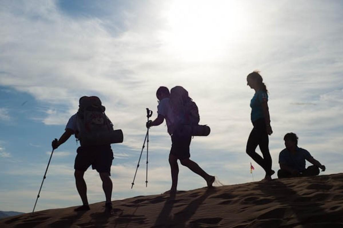 The Gobi March is a 250km multi-stage ultramarathon. Photo: RacingThePlanetLtd