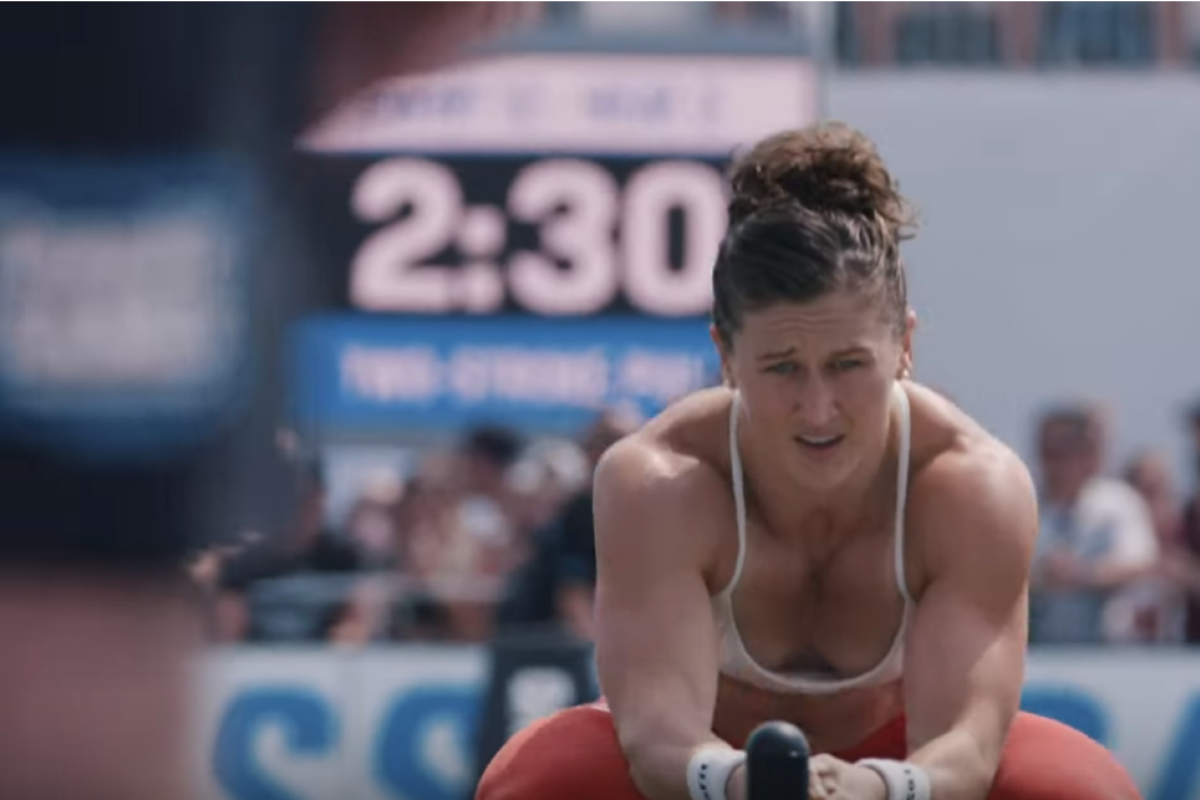 Tia-Clair Toomey working towards victory in the video It's Games Time. Photo: CrossFit Games