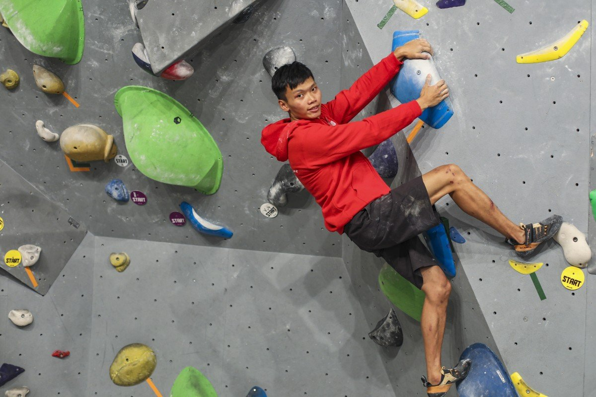Climber Yau Ka-chun combines a laid-back attitude with competitiveness to push himself. Photos: Xiaomei Chen