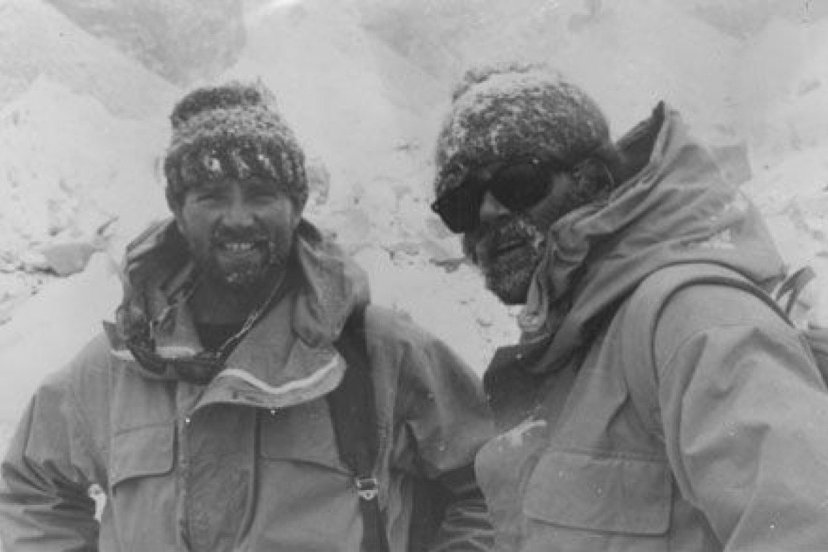 [Left] Michael 'Bronco' Lane and John 'Brummie' Stokes reached the summit of Everest in 1976 - the feat, and subsequent rescue, is documented in the book Soldiers on Everest co-authored by Ronnie Faux. Photo: Handout