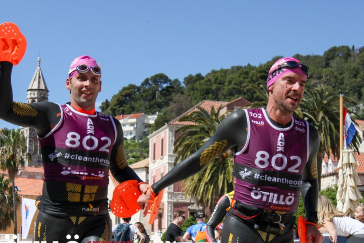 Hongkongers Guillaume Ponticelli and Matthieu Maury take part in the Ötillö Swimrun in Croatia – the gold standard for the sport – but Hong Kong is the perfect place for it to grow. Photo: Ötillö/Sara Lucasi