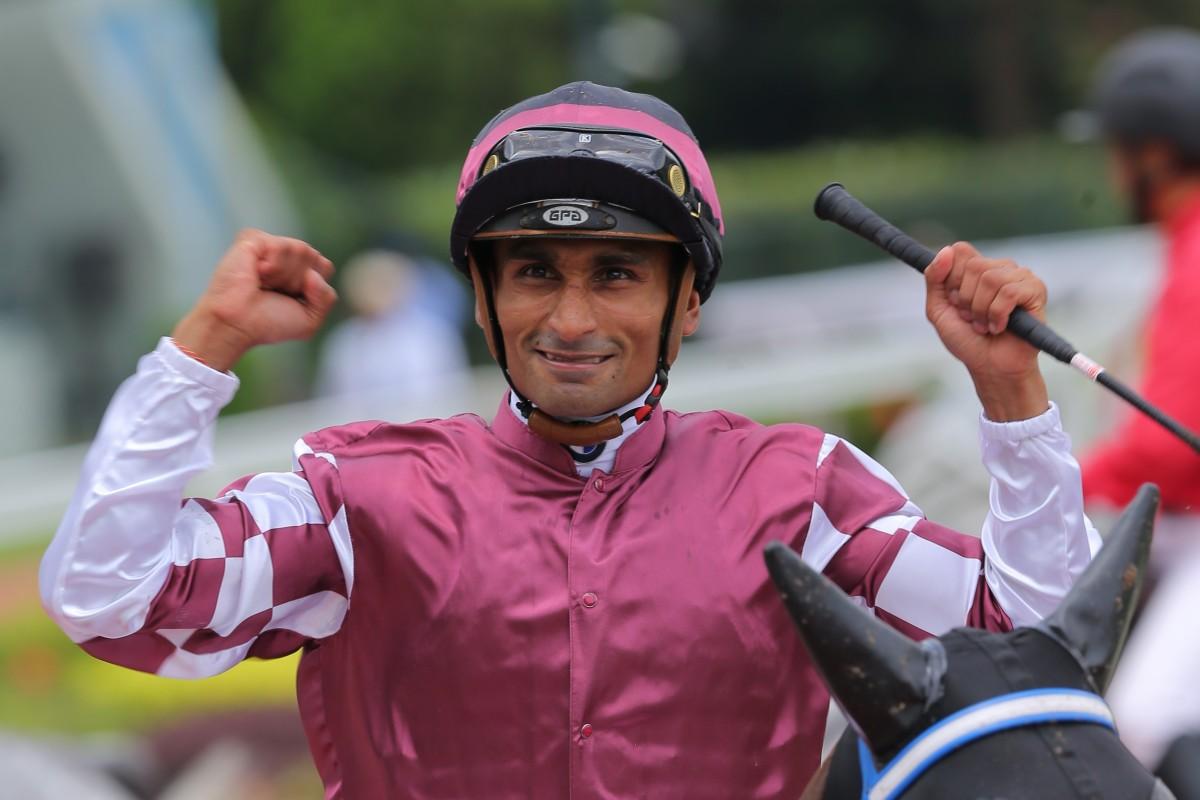 Karis Teetan celebrates a winner. Photos: Kenneth Chan