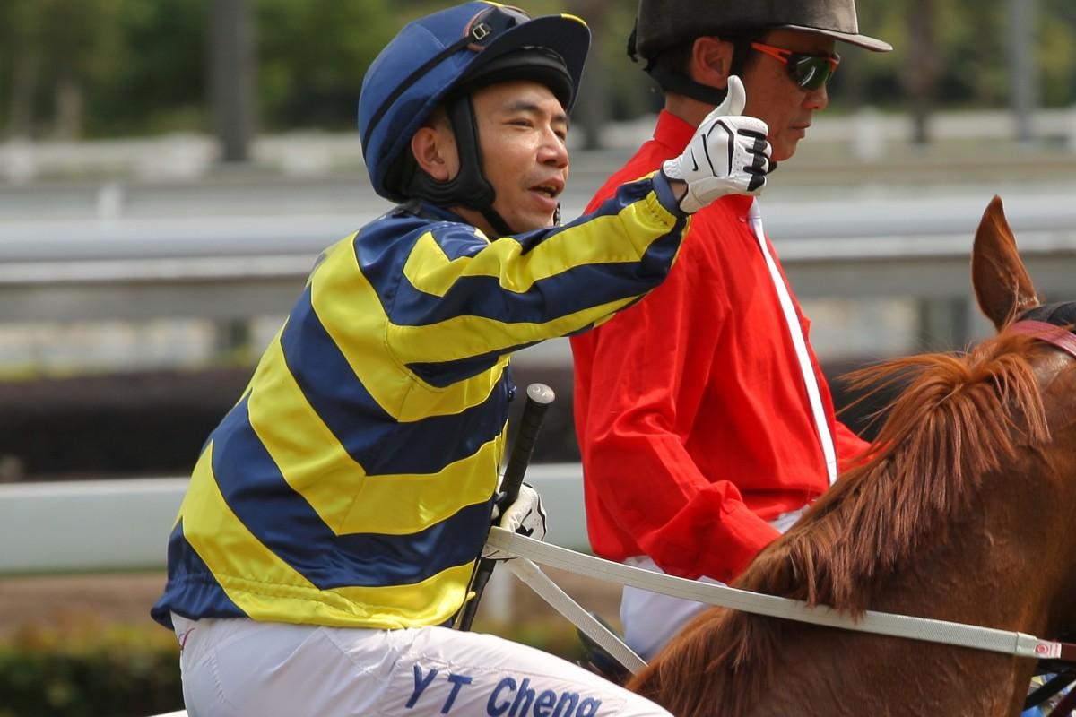 Howard Cheng celebrates a winner at Sha Tin. Photos: Kenneth Chan
