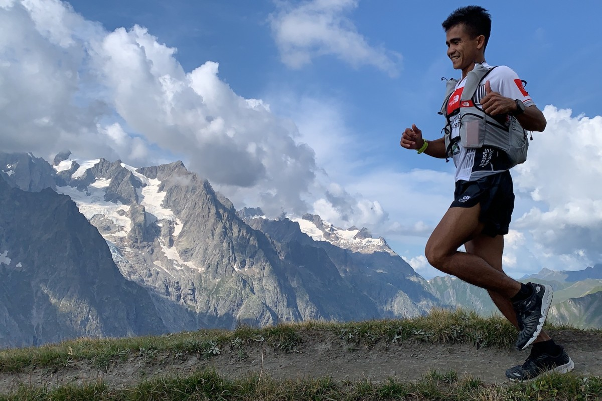 John 'StingRay' Onifa prepares for the CCC at the UTMB race week. Photos: The North Face Adventure Team