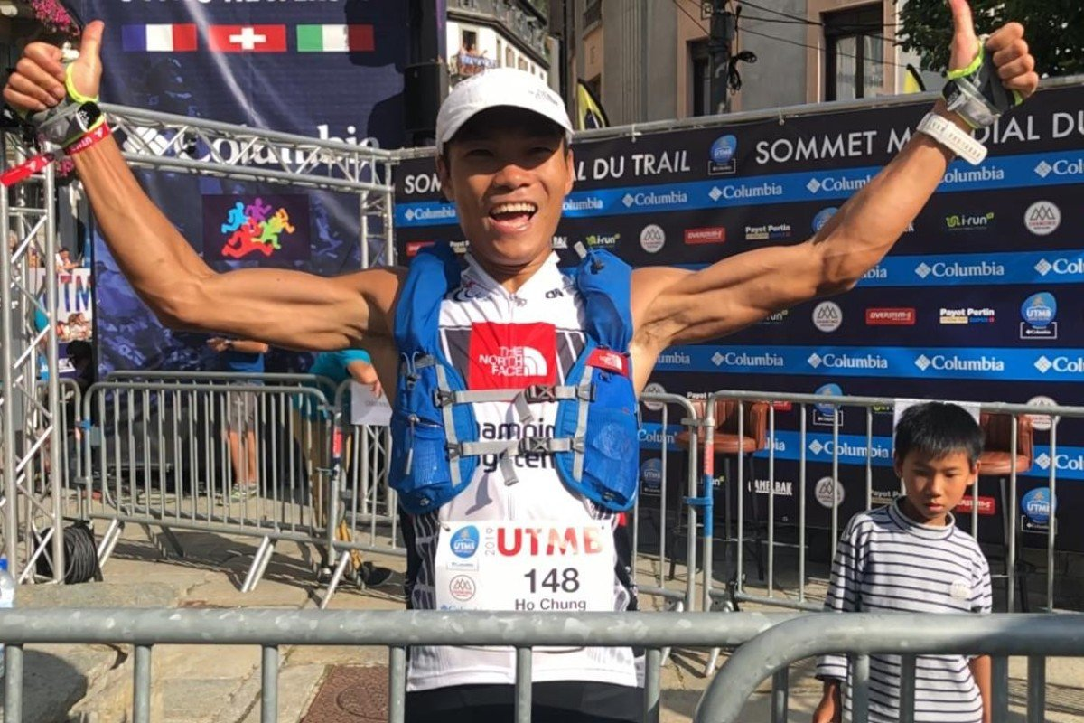 Wong Ho-chung finishes 7th at the UTMB 2019. Photo: Ryan Blair