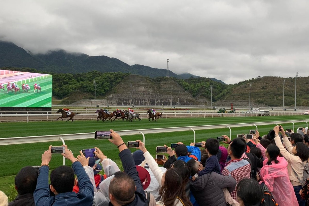 Mainland fans embrace the first official race meeting in Conghua. Photos: Kenneth Chan