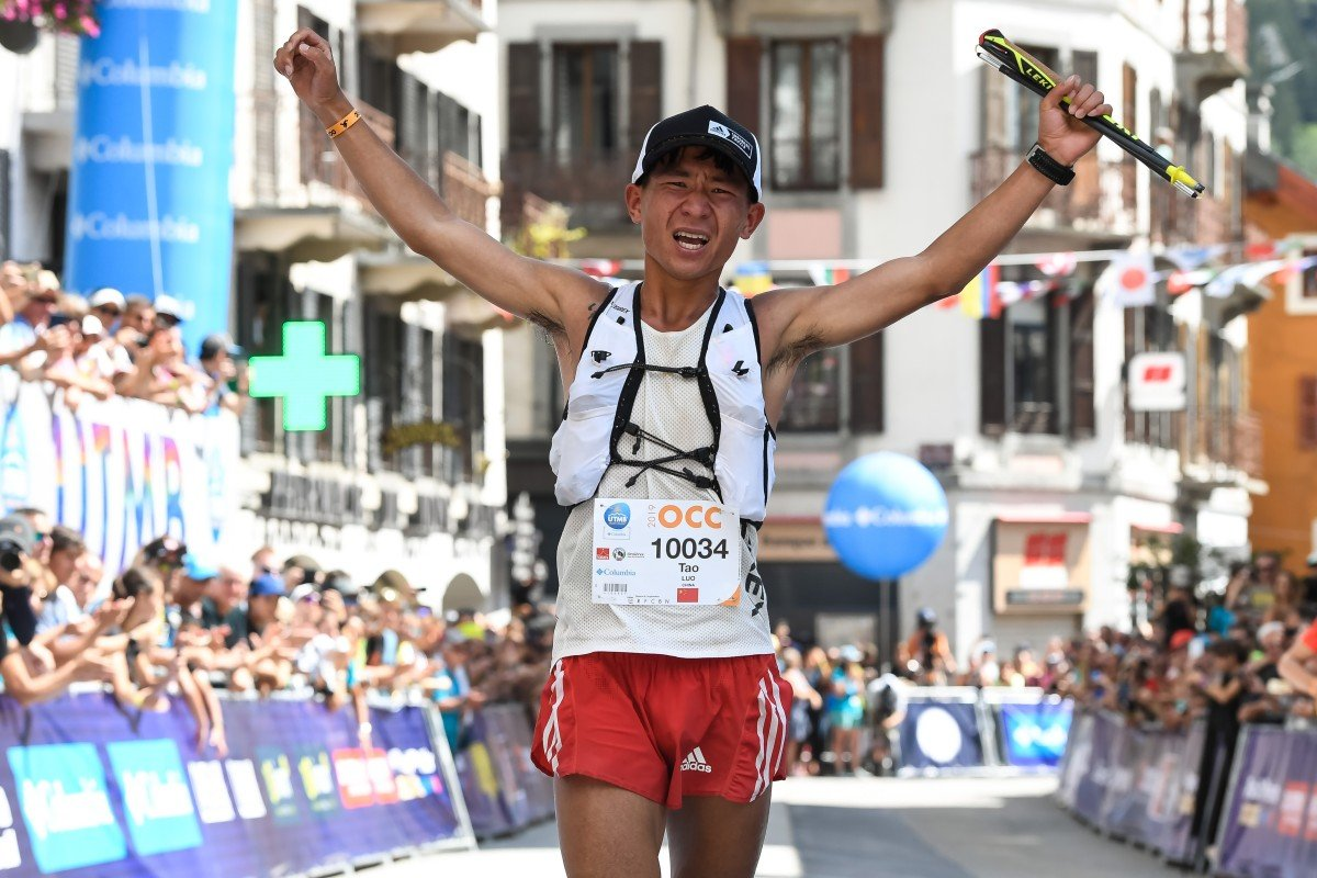 Luo Tao was third at the OCC despite fading towards the end of the race. Photo: UTMB