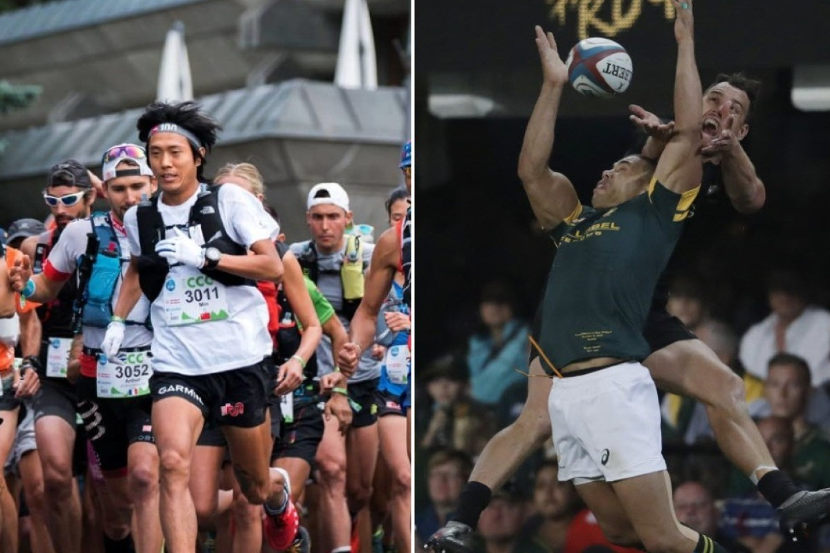 Qi Min (left) runs like he has springs in his feed. Could he be a great fullback, like Israel Dagg (right) who can launch himself in the air like a salmon? Photos: Jack Atkinson/Themba Hadebe