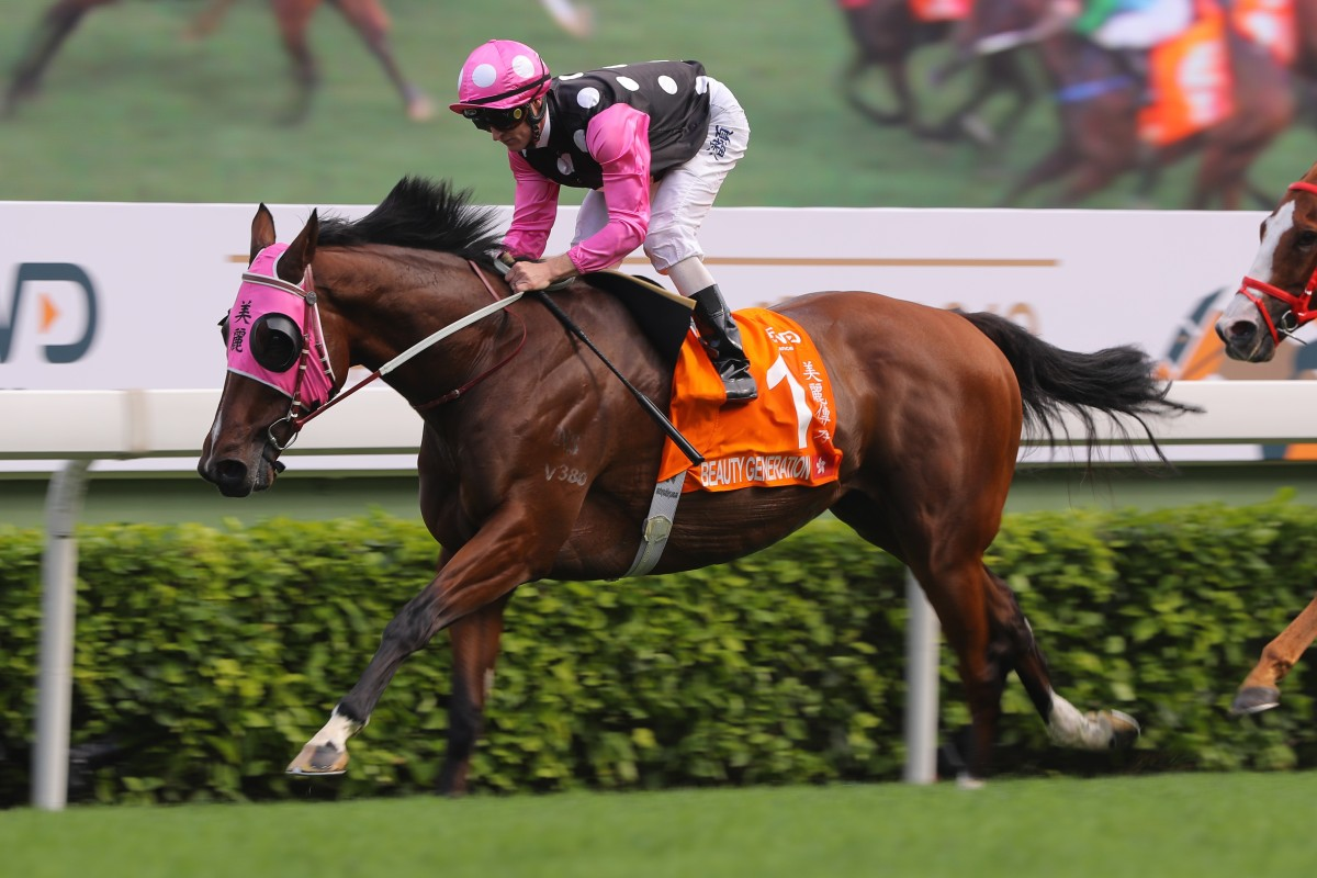 Beauty Generation is looking to build on his nine-race winning streak at Sha Tin on Tuesday. Photos: Kenneth Chan