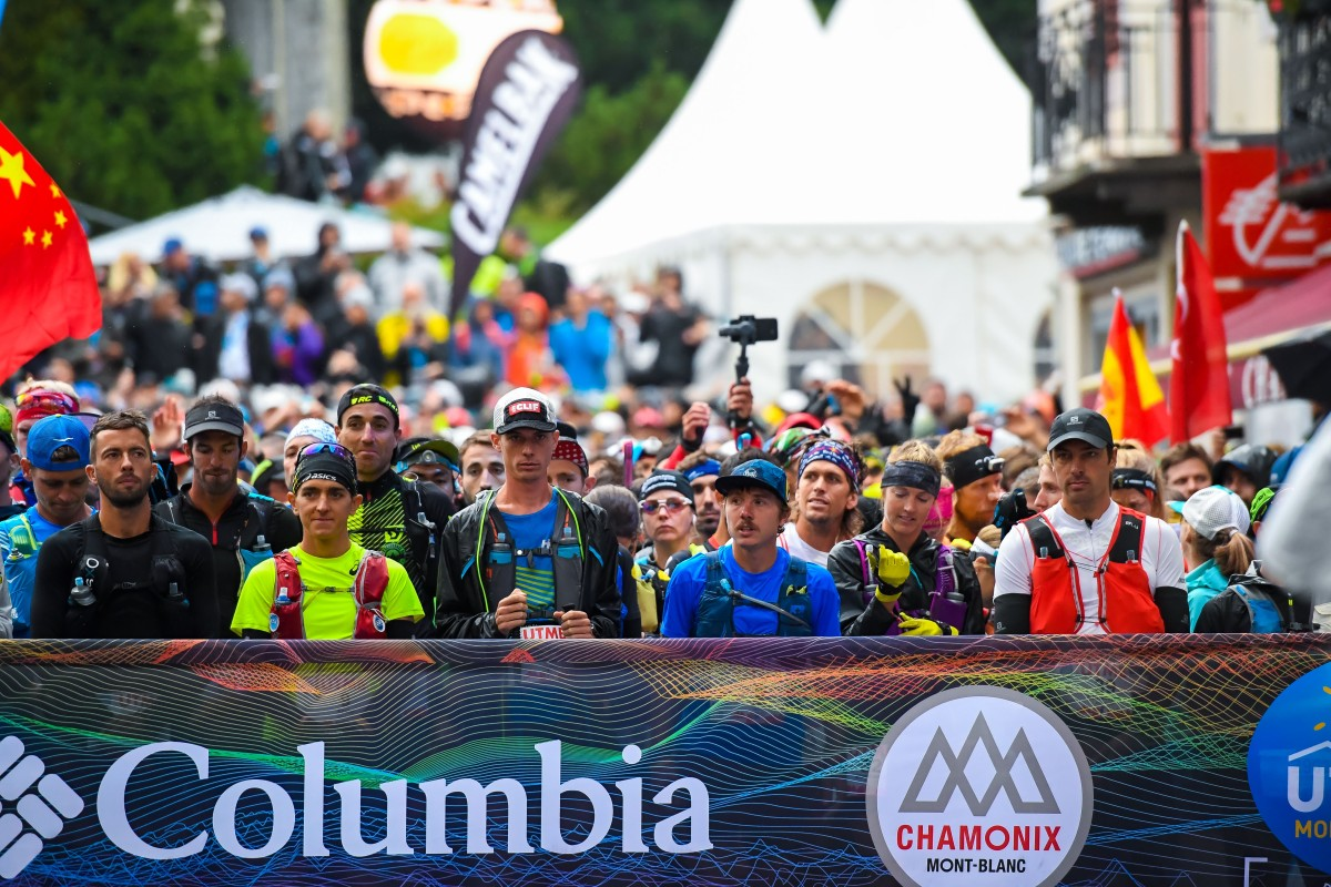 The UTMB start line is packed with the best runners in the world, and relative novices – where do we draw the line for testing? Photo: UTMB