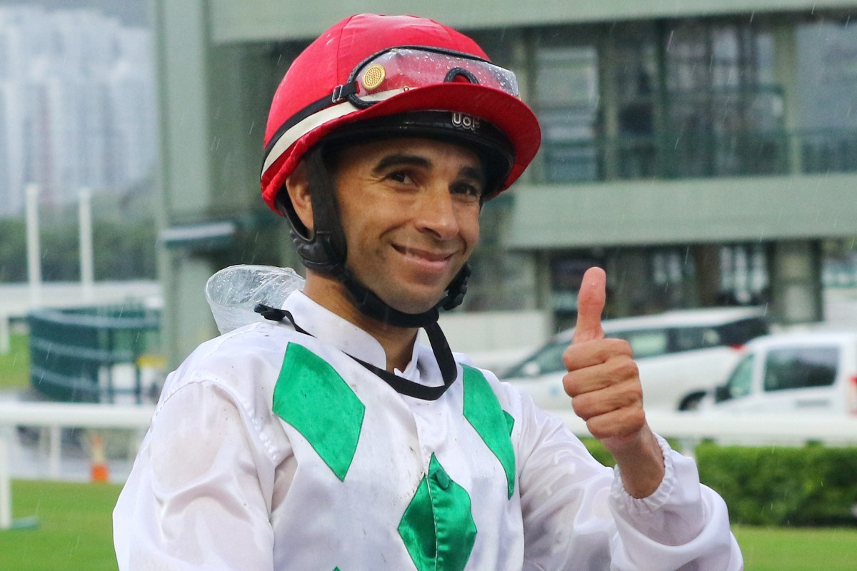 Joao Moreira celebrates a winner at Sha Tin on Sunday. Photos: Kenneth Chan