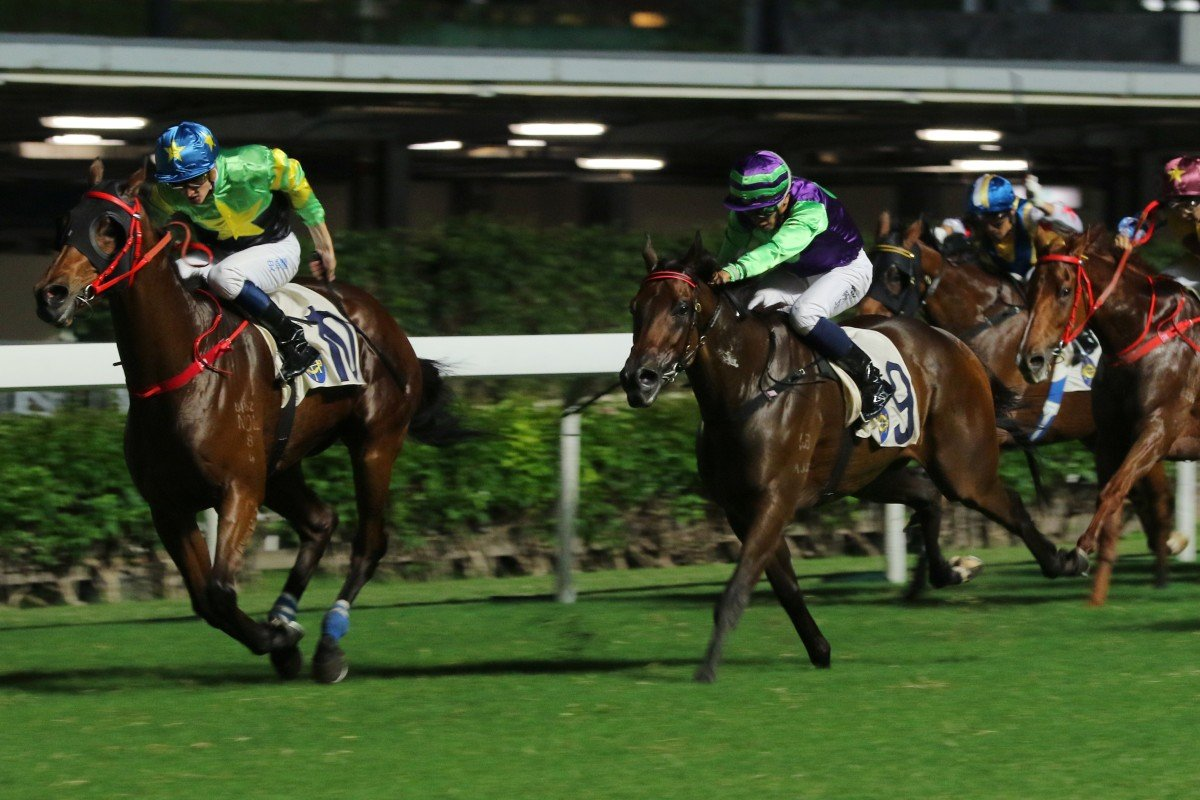 Flash Famous wins at Happy Valley on Wednesday night. Photo: Kenneth Chan
