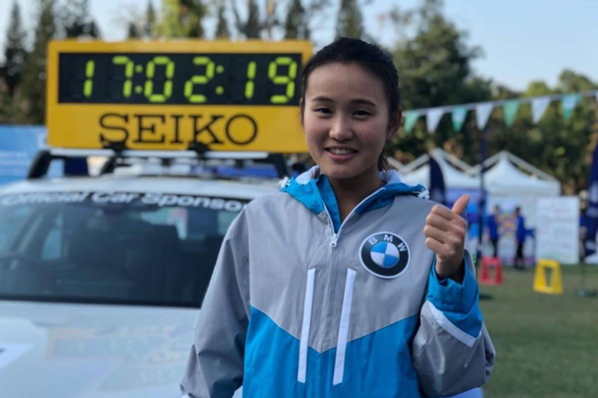 Natasha Wong Tsz-yan before the 2019 Hong Kong Marathon, but it was not until the Berlin Marathon in September that everything finally clicked. Photo: SCMP