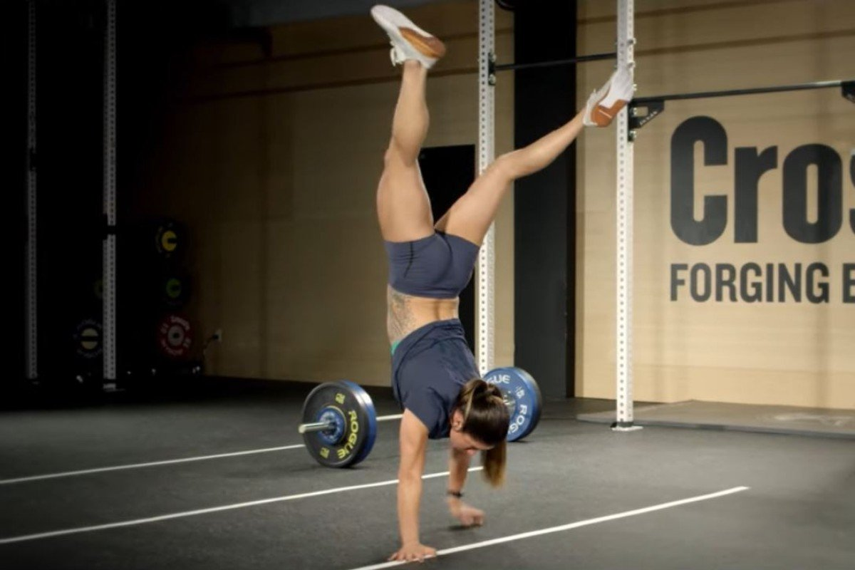 CrossFit 20.3 workout features handstand walks. Photo: CrossFit
